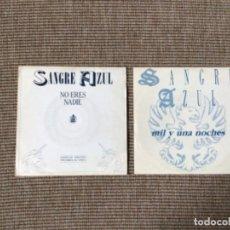 Discos de vinilo: SANGRE AZUL - 2 SINGLES PROMOCIONALES VINILO. Lote 222963606