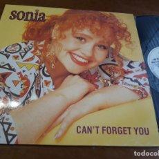 Discos de vinilo: SONIA-CAN'T FORGET YOU.-MAXI ESPAÑA-1989-. Lote 222979906