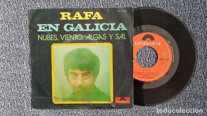 RAFA - EN GALICIA / NUBES, VIENTO, ALGAS Y SAL. EDITADO POR POLYDOR. AÑO 1.971 (Música - Discos - Singles Vinilo - Solistas Españoles de los 50 y 60)