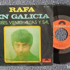 Discos de vinilo: RAFA - EN GALICIA / NUBES, VIENTO, ALGAS Y SAL. EDITADO POR POLYDOR. AÑO 1.971. Lote 222991693