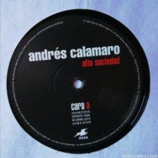 Discos de vinilo: LP ALBUM , ANDRES CALAMARO , ALTA SUCIEDAD , SOLO DISCO SIN PORTADA. Lote 222993751