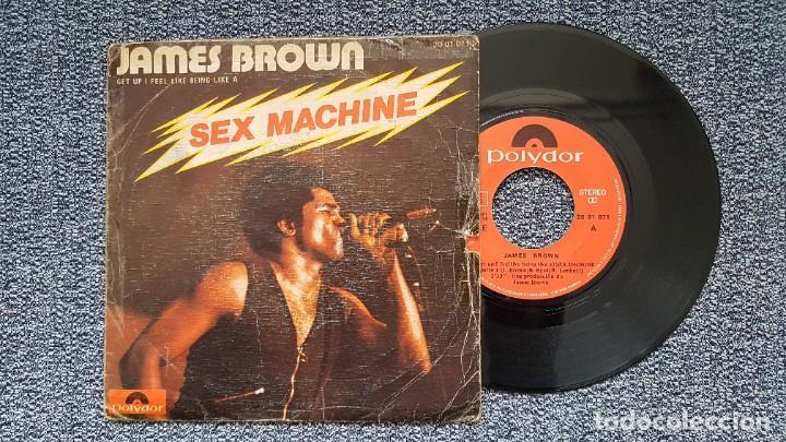 JAMES BROWN - GEP UP I FEEL LIKE BEING LIKE A SEX MACHINE PRT. 1 Y 2, EDITADO POR POLYDOR. AÑO 1.974 (Música - Discos - Singles Vinilo - Funk, Soul y Black Music)