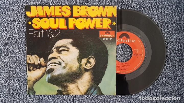 JAMES BROWN - SOUL POWER. PART 1 Y 2. EDITADO POR POLYDOR. AÑO 1.971 (Música - Discos - Singles Vinilo - Funk, Soul y Black Music)