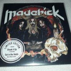 Discos de vinilo: MAVERICK-BREAK IT UP SINGLE VINILO SPANISH HEAVY METAL-ADGAR-WARCRY-BARON-SANGRE AZUL. Lote 223039142