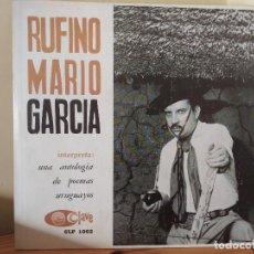 Discos de vinilo: RUFINO MARIO GARCIA. ANTOLOGIA DE POEMAS URUGUAYOS – LP SELLO CLAVE 1970 CLP 1002. Lote 223047038