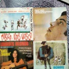 Discos de vinilo: LOTE DE VINILOS MÚSICA EN EUSKERA AÑOS 60 Y 70. Lote 223070716