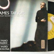 """Discos de vinilo: JAMES TAYLOR 7"""" SPAIN 45 SINGLE VINILO PROMOCIONAL 1992 STOP THINKING ´BOUT THAT FECHAS CONCIERTOS. Lote 223077542"""