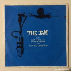 Discos de vinilo: THE JAM – JUST WHO IS THE 5 O'CLOCK HERO / THE GREAT DEPRESSION EUROPE 1982. Lote 223085790