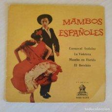 Discos de vinilo: ORQUESTA FLORIDA - EDUARDO GADEA - LOS EMBAJADORES - LA VIOLETERA / EL BEREBITO - RARO VINILO AZUL. Lote 223091150