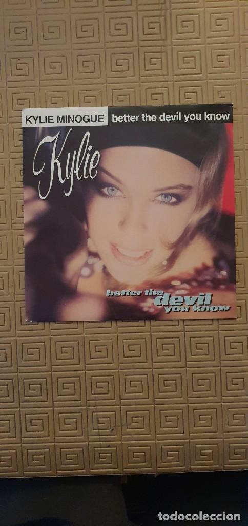 "KYLIE MINOGUE – BETTER THE DEVIL YOU KNOW SELLO: CBS 656009 7 FORMATO: VINYL, 7"", 45 RPM, SINGLE+ (Música - Discos - Singles Vinilo - Electrónica, Avantgarde y Experimental)"