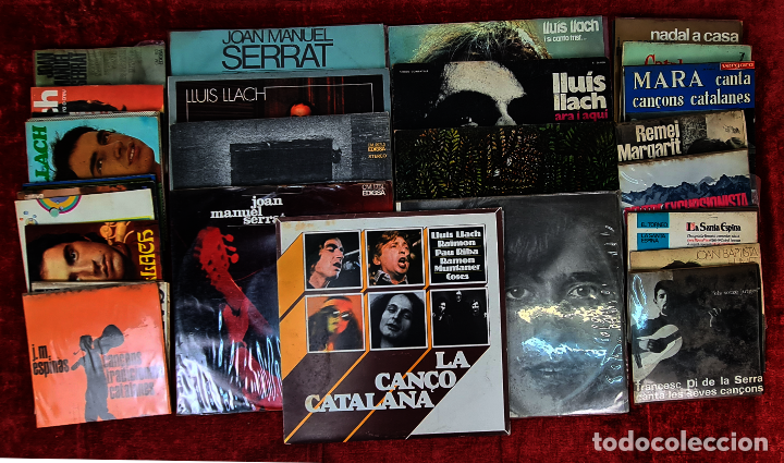 COLECCION DE MUSICA CATALANA. 9 LP Y 27 SINGLES. VARIOS AUTORES. AÑOS 60/70. (Música - Discos - LP Vinilo - Cantautores Españoles)