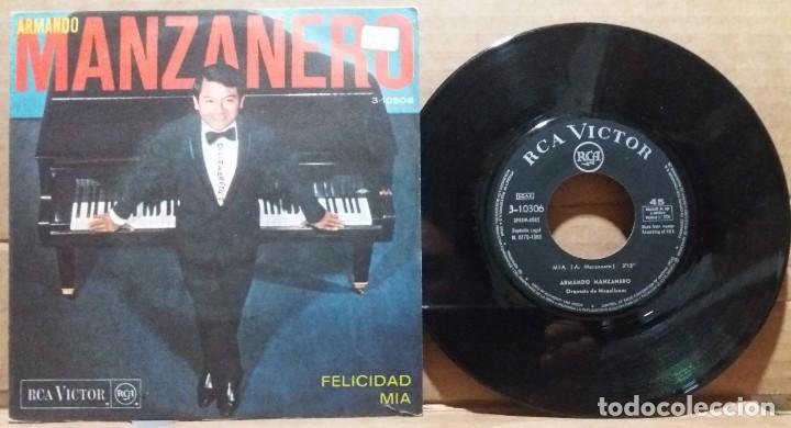 ARMANDO MANZANERO / FELICIDAD - MIA / SINGLE 7 INCH (Música - Discos - Singles Vinilo - Orquestas)