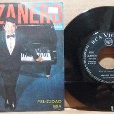 Discos de vinilo: ARMANDO MANZANERO / FELICIDAD - MIA / SINGLE 7 INCH. Lote 223107945
