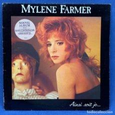 Discos de vinilo: LP - VINILO MYLENE FARMER - AINSI SOIT JE... + ENCARTE - FRANCIA - AÑO 1988. Lote 223109570
