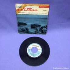 Discos de vinilo: SINGLE EL DÍA MAS LARGO -- YANKEE DOODLE -- THE FLAKE -- ONE TWO THREE WAIL -- G-. Lote 223111650