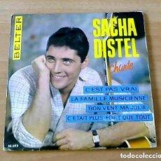 Discos de vinilo: SACHA DISTEL C´EST PAS VRAI - EP. Lote 223125340