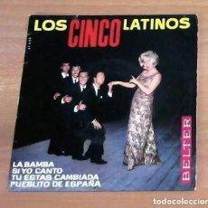 Discos de vinilo: LOS CINCO LATINOS / LA BAMBA / EP - BELTER-1964. Lote 223126403