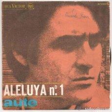 Dischi in vinile: LUIS EDUARDO AUTE - ALELUYA Nº 1 (SINGLE RCA VICTOR 1967). Lote 223126631