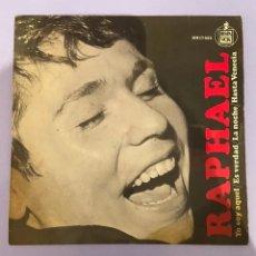 Dischi in vinile: RAPHAEL, YO SOY AQUEL, ES VERDAD, LA NOCHE, HASTA VENECIA. 1966. Lote 223126788