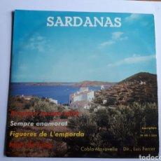 Discos de vinilo: SARDANES. COBLA MARAVELLA. MAXI SINGLE. Lote 223127636