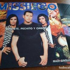 Discos de vinilo: MISSIEGO ?– CACHETE, PECHITO Y OMBLIGO-MAXI-MERCURY ?– 578 001-1-ESPAÑA-1996. Lote 223132307
