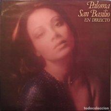Discos de vinilo: PALOMA SAN BASILIO – EN DIRECTO - DISCO VINILO LP 33RPM - 1978. Lote 223139746