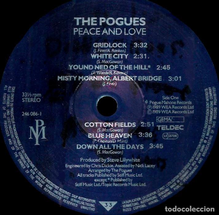 Discos de vinilo: V1101 - POGUES. PEACE AND LOVE. LP VINILO - Foto 2 - 223210487