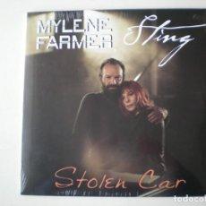 Discos de vinilo: MYLENE FARMER Y STING - STOLEN CAR MAXISINGLE EDITADO EN FRANCIA - PRECINTADO. Lote 223210602