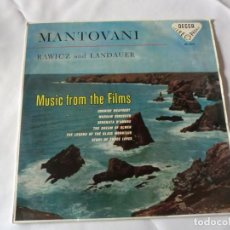 Discos de vinilo: MANTOVANI CON RAWICZ Y LANDAUER.MUSIC FROM THE FILMS.ED.DECCA 1958 SPAIN SKL 4014. Lote 223218583