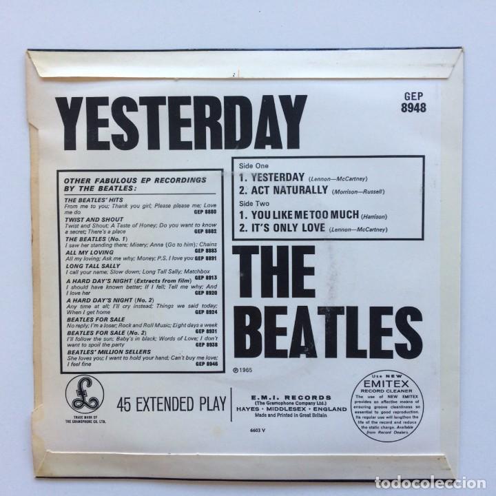 Discos de vinilo: The Beatles – Yesterday EP45 UK - Foto 2 - 223220168
