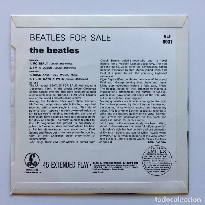 Discos de vinilo: The Beatles – Beatles For Sale EP45 UK 1981 - Foto 2 - 223221690