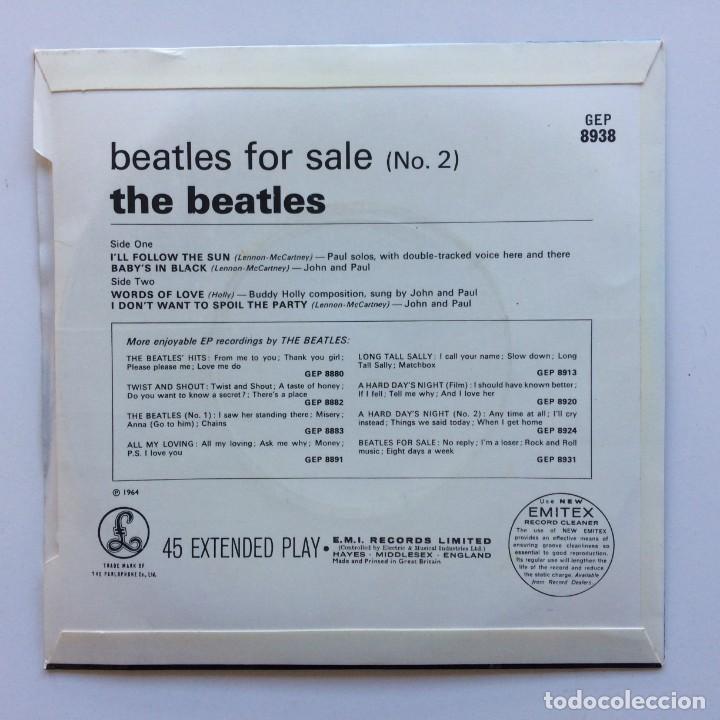 Discos de vinilo: The Beatles – Beatles For Sale (No. 2) EP45 UK - Foto 2 - 223224158
