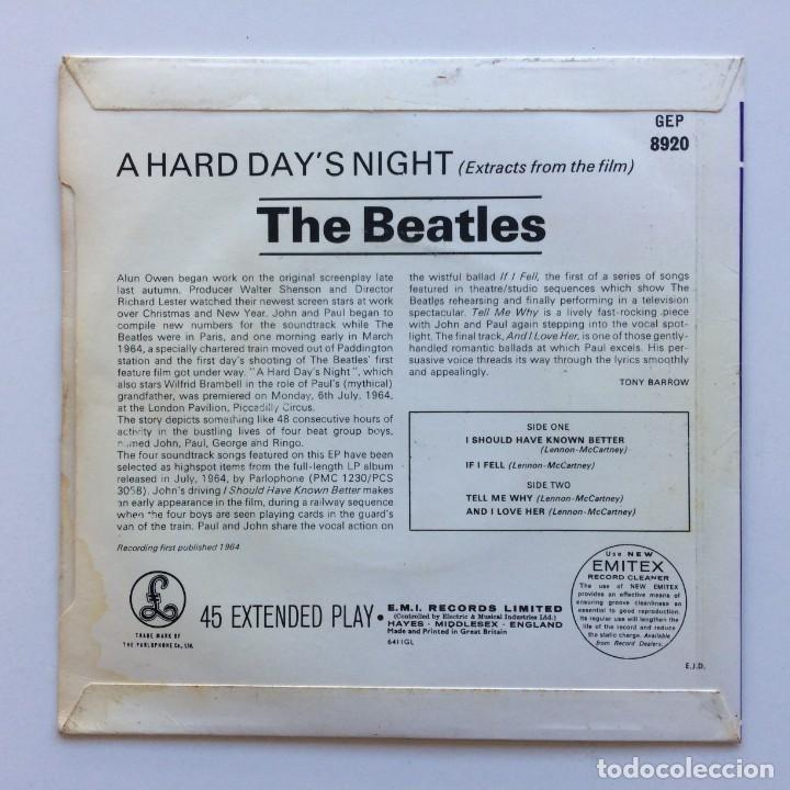 Discos de vinilo: The Beatles – Extracts From The Film A Hard Days Night EP45 UK 1978 - Foto 2 - 223227746