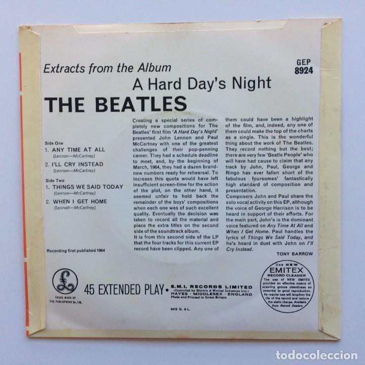 Discos de vinilo: The Beatles – Extracts From The Album A Hard Days Night EP45 UK 1978 - Foto 2 - 223228255