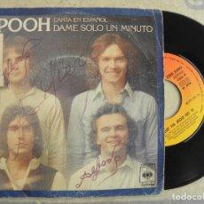 Discos de vinilo: I POOH -DAME SOLO UN MINUTO (EN ESPAÑOL) -SINGLE 1977 -PEDIDO MINIMO 3 EUROS. Lote 223240826