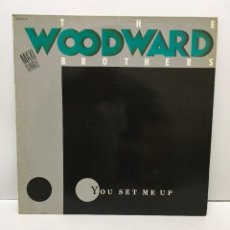 Discos de vinilo: THE WOODWARD BROTHERS ‎– YOU SET ME UP - 1986. Lote 223244275