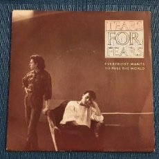 "Discos de vinil: TEARS FOR FEARS ?– EVERYBODY WANTS TO RULE THE WORLD SELLO: MERCURY ?– 880 659-7 FORMATO: VINYL, 7"". Lote 223269308"