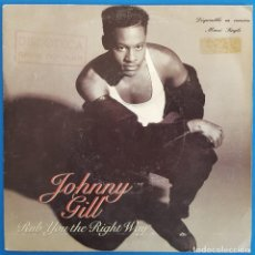 Discos de vinilo: SINGLE / JOHNNY GILL / RUB YOU THE RIGHT WAY / MOTOWN ZB-43615 / 1990. Lote 223285386