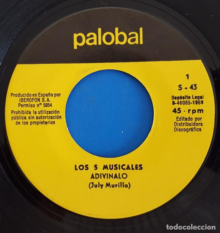 Discos de vinilo: SINGLE / III FESTIVAL DE LA CANCIÓN INFANTIL TVE / ADIVINALO - BUGULU / PALOBAL S-43 / 1969 - Foto 3 - 223290331