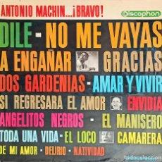 Discos de vinilo: ANTONIO MACHÍN – ANTONIO MACHÍN...¡BRAVO!- DISCO 1964. Lote 223313600