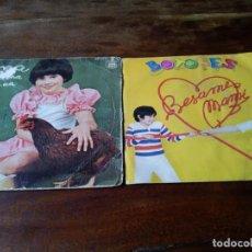 Discos de vinilo: BOTONES Y ANA - BESAME MAMI, LA GALLINA CO.COUA - LOTE DE 2 SINGLES. Lote 223322346