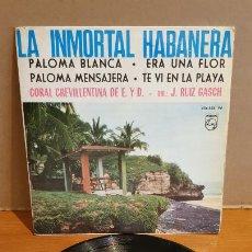Discos de vinilo: CORAL CREVILLENTINA DE E. Y D. / LA INMORTAL HABANERA / EP - PHILIPS-1964 / MBC. ***/***. Lote 223328511