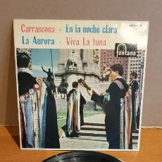 Discos de vinilo: TUNA DE LA ESCUELA SUPERIOR DE COMERCIO DE MADRID / EP - FONTANA-1961 / MBC. ***/***. Lote 223329277