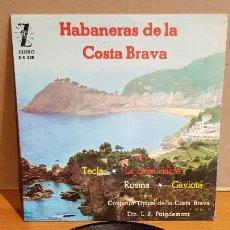 Discos de vinilo: EL NOI DE PALAFRUGELL / HABANERAS DE LA COSTA BRAVA / EP - ZAFIRO-1962 / MBC. ***/***. Lote 223335376