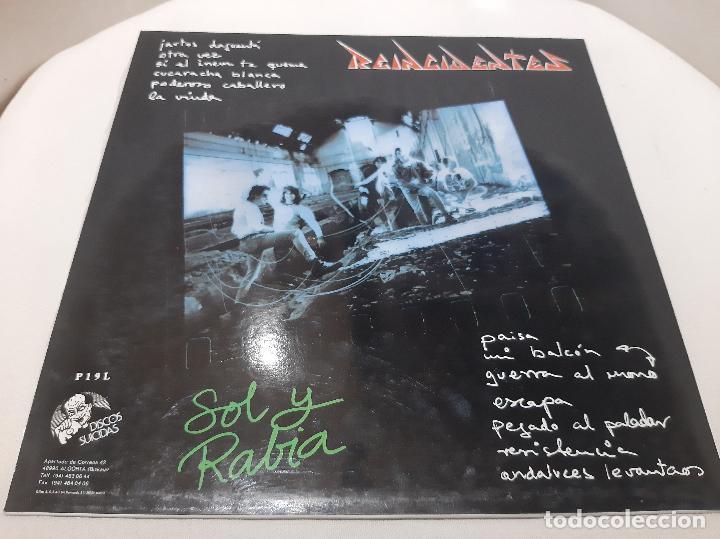 Discos de vinilo: REINCIDENTES -SOL Y RABIA- (1993) LP DISCO VINILO - Foto 10 - 257360300