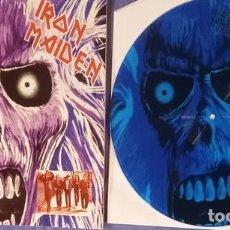 Disques de vinyle: IRON MAIDEN – ALBUM DEMO -EP PICTURE 12 PULG. / BLUE-. Lote 223358527