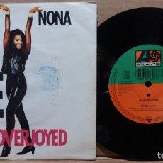 Discos de vinilo: NONA GAYE / I'M OVERJOYED / SINGLE 7 INCH. Lote 223362368