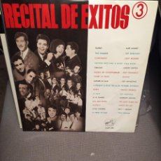 Discos de vinilo: RECITAL DE EXITOS 3: CLIFF RICHARD,AGUILE,SHADOWS,DUO DINAMICO,JAVALOYAS,MUSTANG,TONY RONALD, BECAUD. Lote 223372868