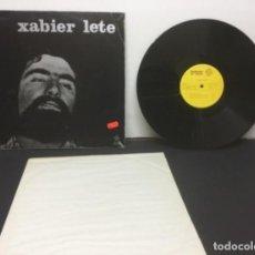 Discos de vinilo: LP : XABIER LETE (ARTEZI, 1974) - BASQUE FOLK VASCO, EUSKERA, PAÍS VASCO, EUSKADI. Lote 223377882