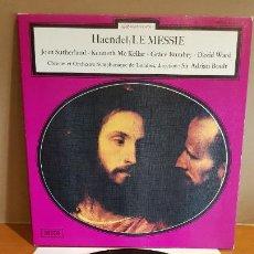 Discos de vinilo: HAENDEL / LE MESSIE / LP-GATEFOLD - DECCA-7029A / CALIDAD LUJO. ****/****. Lote 223378097